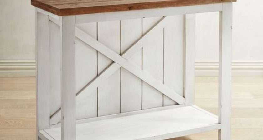 Farmhouse White Small Console Table Pier Imports