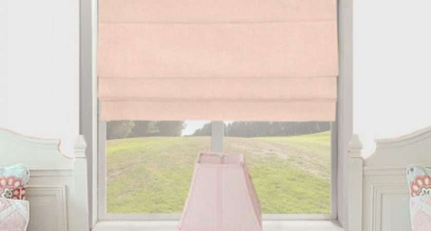 Faux Suede Pastel Pink Roman Blind Made Measure Absolute Home