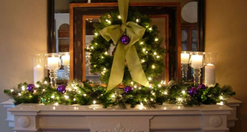 Festive Christmas Mantel Decorating Idea Own Style