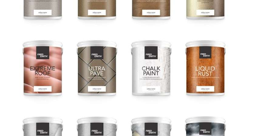 Fired Earth Paint Packaging Behance