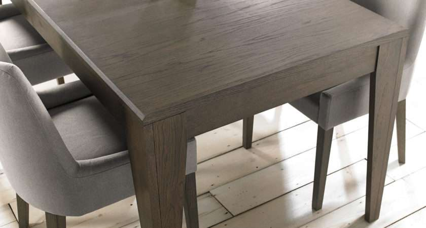 Firenze Weathered Oak Soft Grey Extending Dining