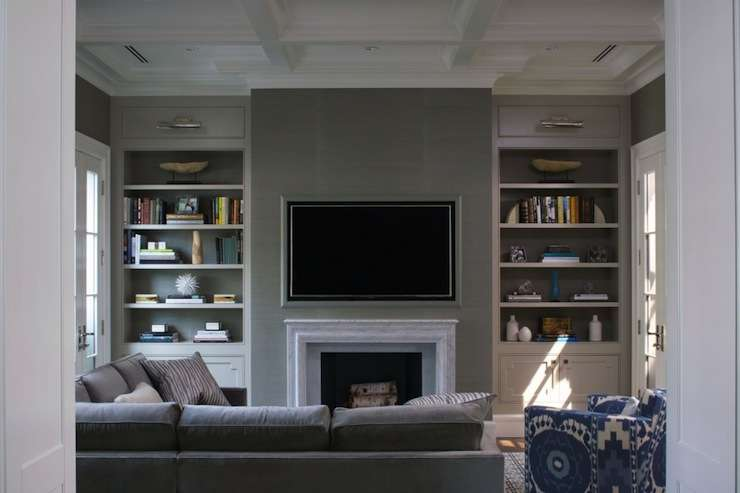 Fireplace Niche Contemporary Living Room Northworks Architects
