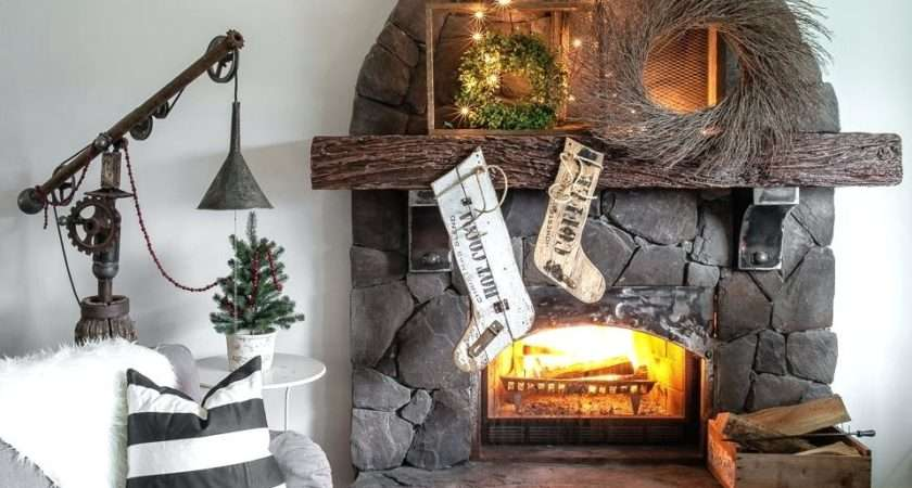 Fireplace Stockings Ornament Personalised