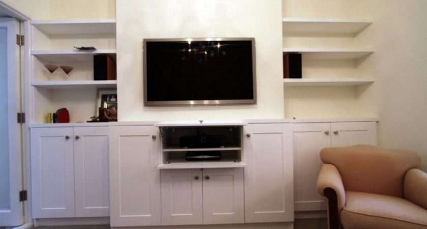Fitted Living Room Furniture Bespoke Alcove Shelving