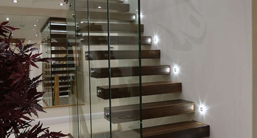 Floating Staircases Black Walnut Staircase