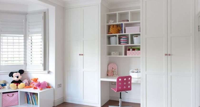 Floor Ceiling Fitted Wardrobes Desk Area