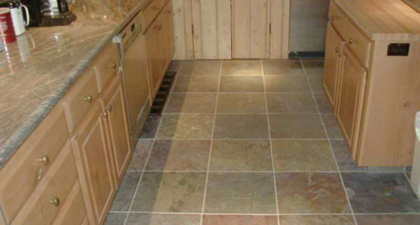 Flooring Kitchen Tile Floor Ideas Slate