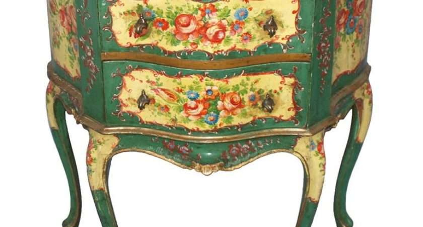 Floral Painted Venetian Commode Stdibs