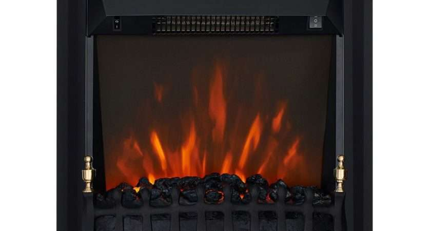 Focal Point Blenheim Black Led Electric Fire Departments