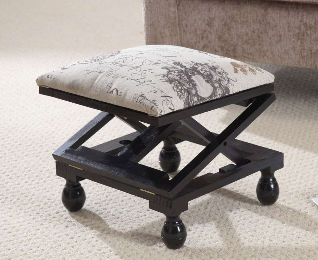 Foot Stool Padded Footstool Adjustable Height Maximum Comfort