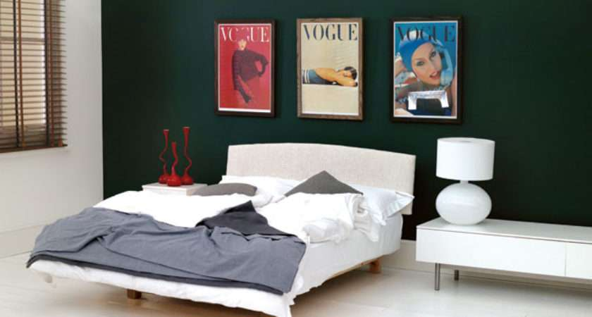 Forest Green Wall Paint Feature Colour Ideas