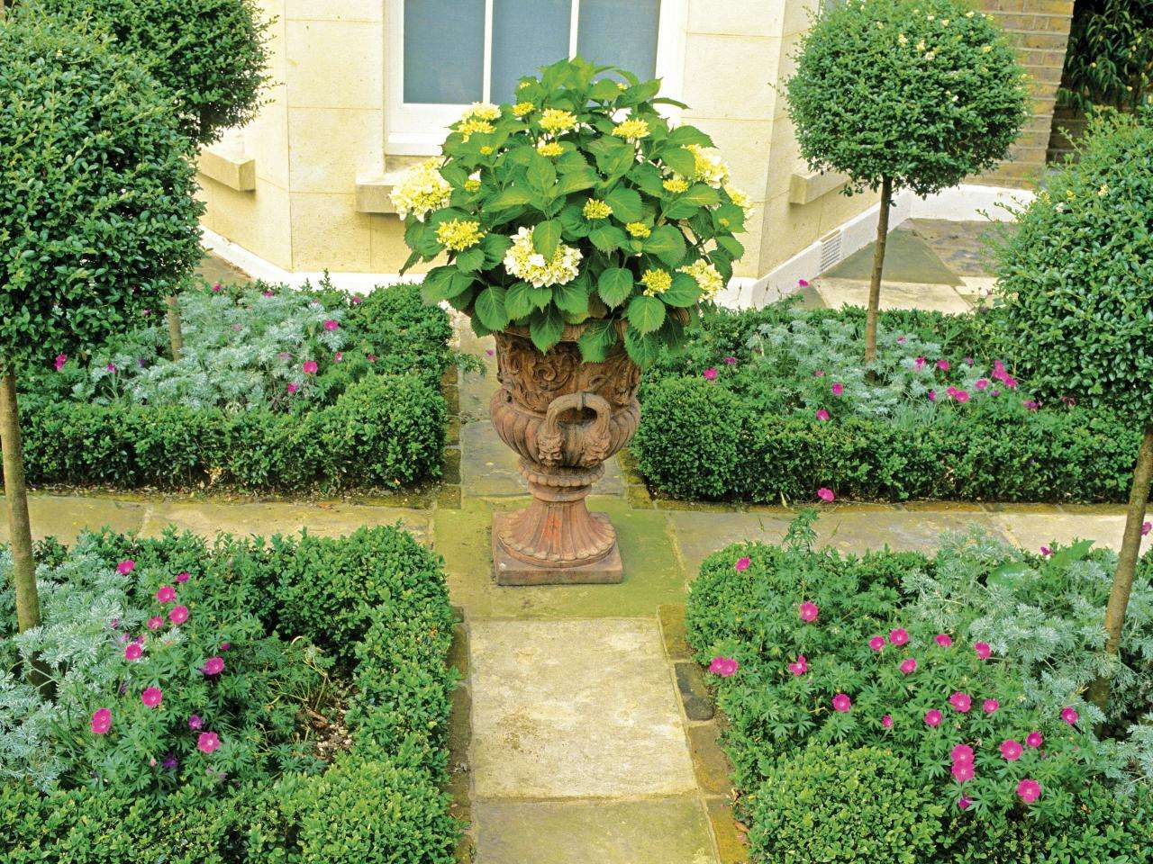 Formal Garden Designs Three Different Spaces Landscaping Ideas