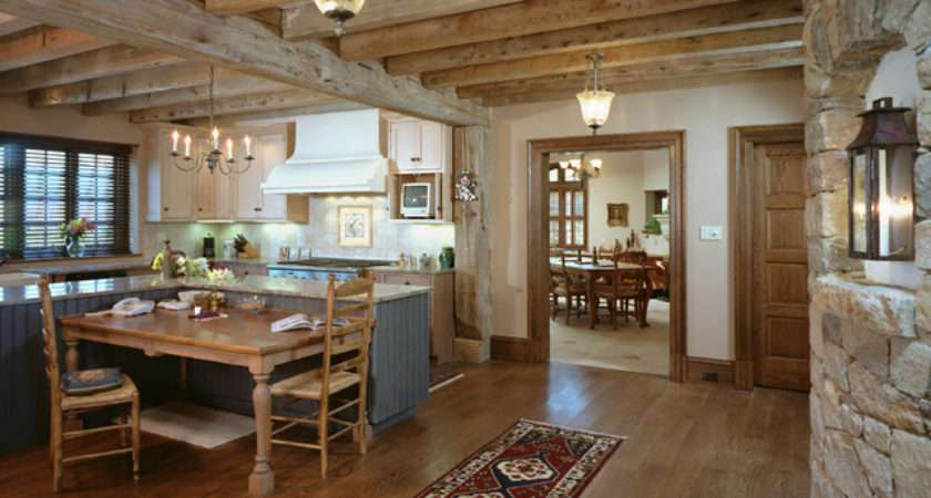 French Country Home Rustic Kitchen Philadelphia