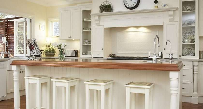 French Country Kitchens Ideas Blue White Colors