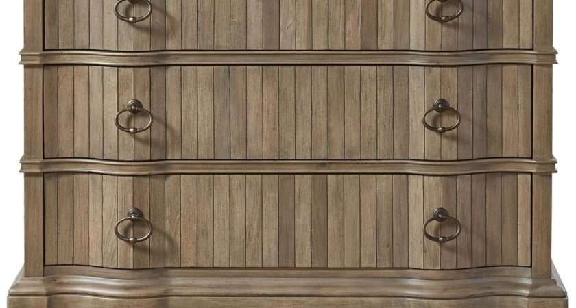 French Country Scalloped Drawers Hallway Chest Zin Home