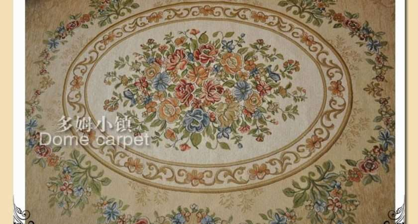 French Country Victorian Traditional Classic Floral Cream Floor Rug
