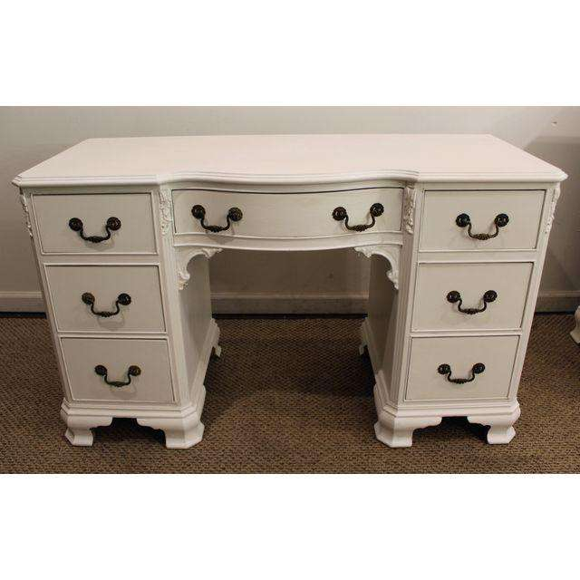 French Country White Chalk Painted Vanity Desk Chairish