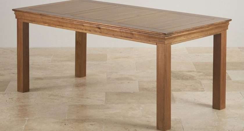 French Farmhouse Dining Table Rustic Solid Oak