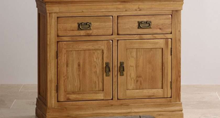 French Farmhouse Small Sideboard Solid Oak