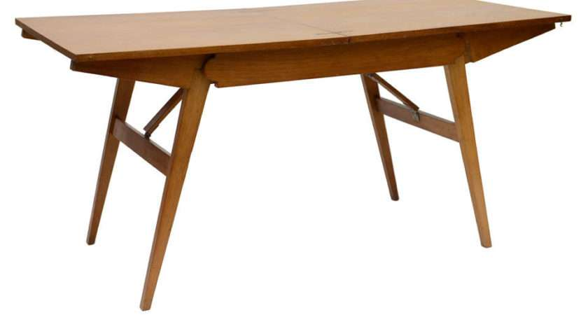 French Oak Collapsible Desk Cocktail Table Sale