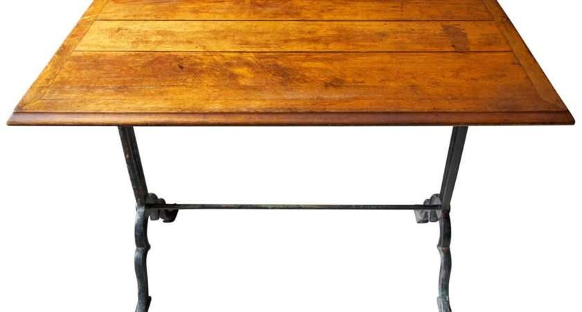 French Oak Top Bistro Table Stdibs