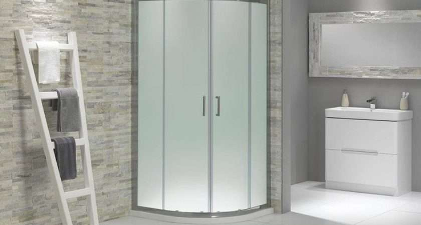 Frosted Glass Quadrant Shower Enclosure Now