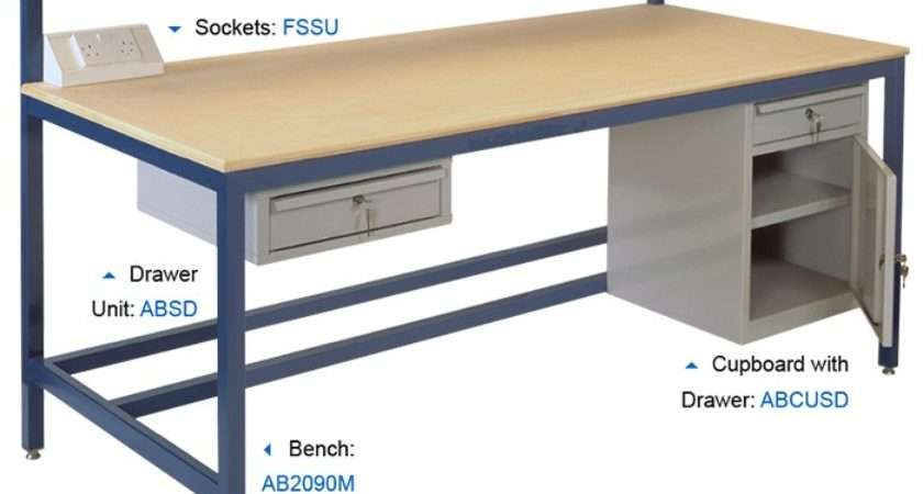 Fully Welded Assembly Workbenches Mdf Worktops