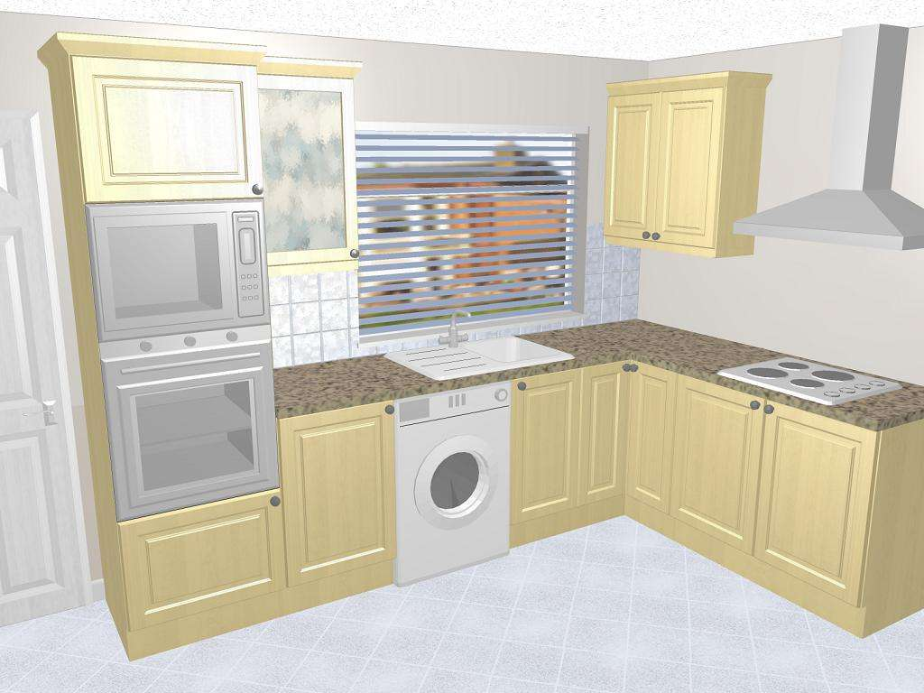 Functional Shaped Kitchen Design