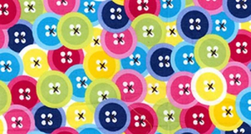 Funky Buttons Rose Hubble Cotton Fabric