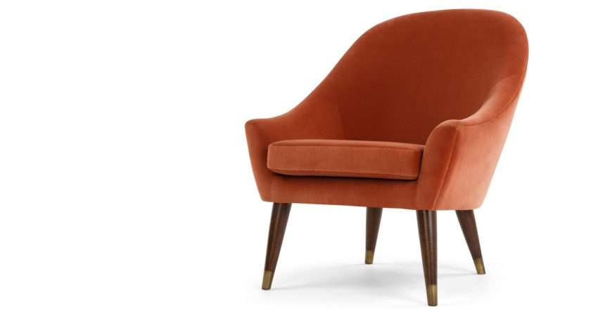 Furniture Burnt Orange Accent Chair Bring Relaxation