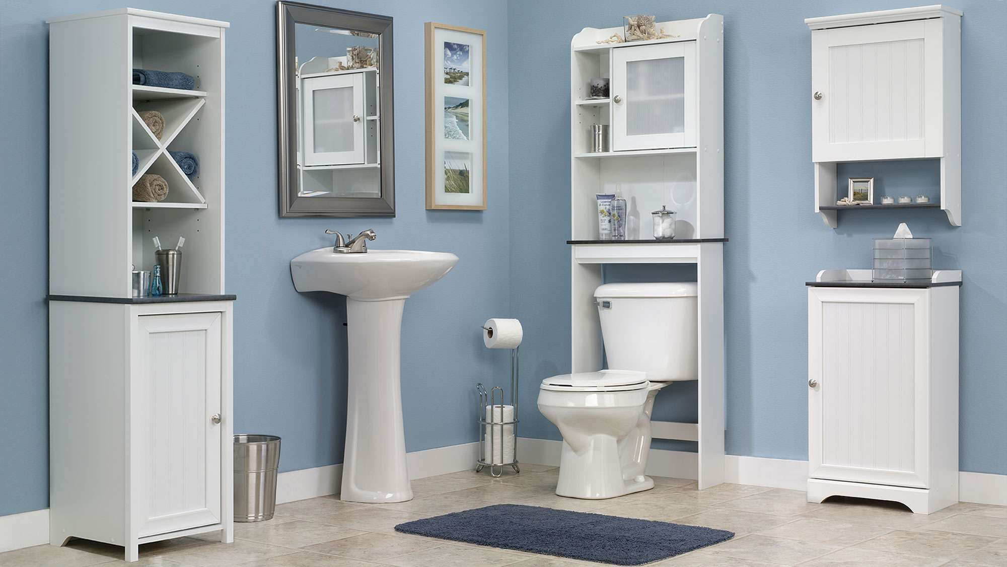 Furniture Cabinets Bathroom Storages Wood