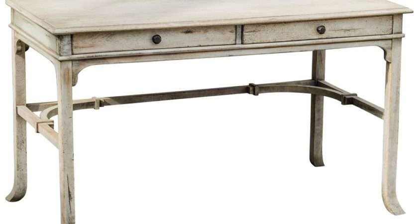 Furniture Desks Candide French Country Antique White Wood Writing Desk