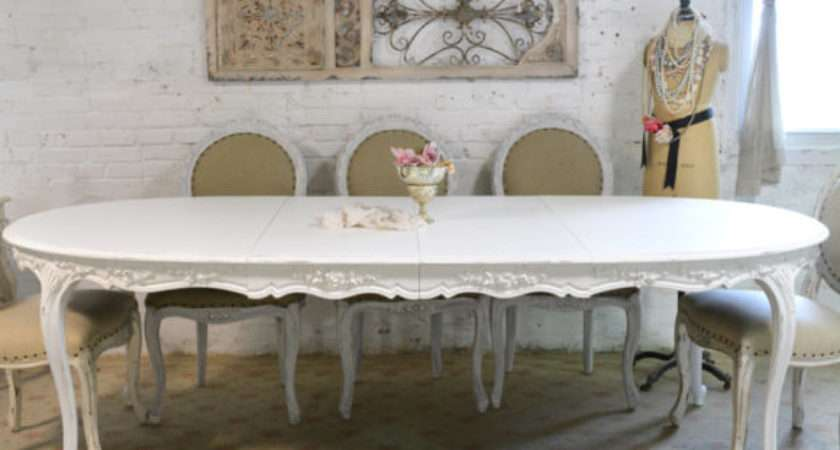 Furniture Wonderful Antique White Dining Tables
