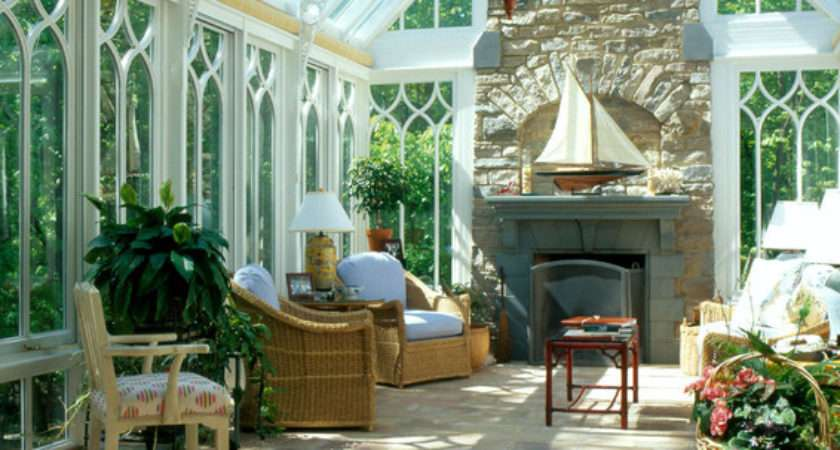 Gable End Conservatory Fireplace Traditional