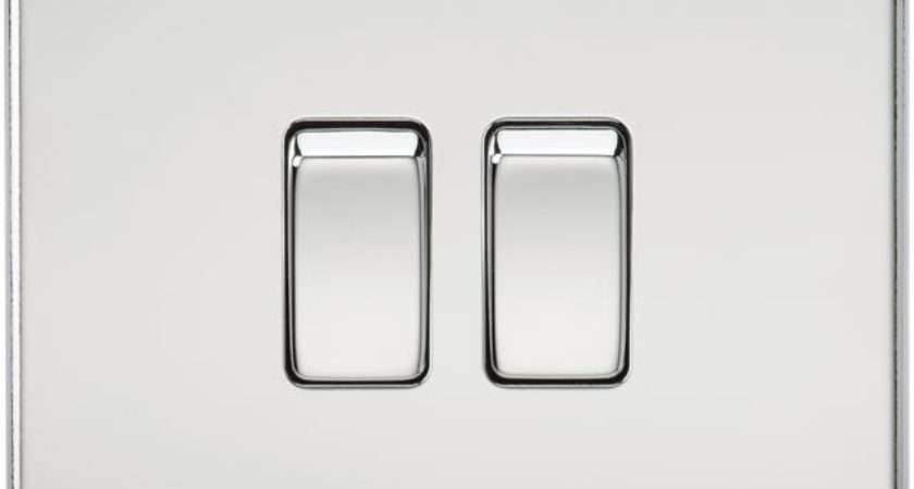 Gang Way Screwless Flat Plate Polished Chrome Double