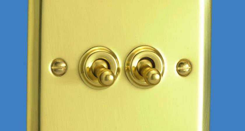 Gang Way Toggle Light Switch Victorian Brass