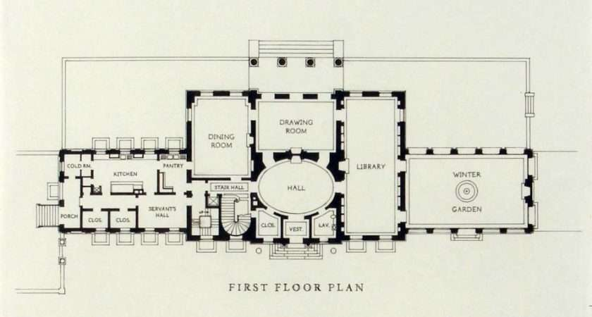 Georgian House Plan Detail