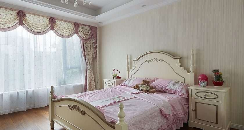 Girls Bedroom Curtains Decoration Effect Little