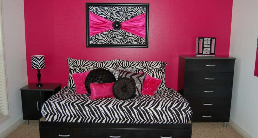 Girls Zebra Room Hot Pink Evyn Boys Allowed Pinterest