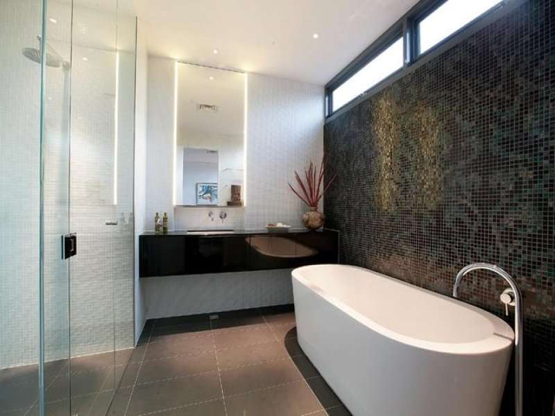 Glass Bathroom Design Australian Home