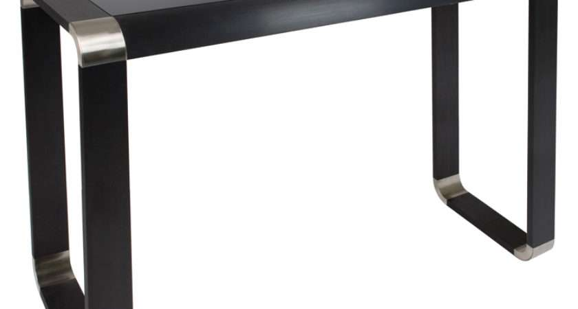 Glass Console Table Oasis Black Living