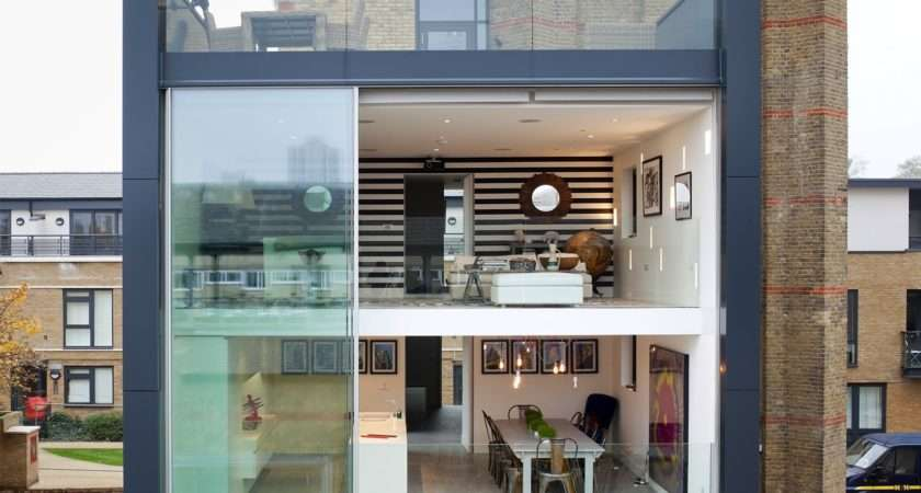 Glass Dollhouse Facade Eclectic Interior Design Renewed Tower