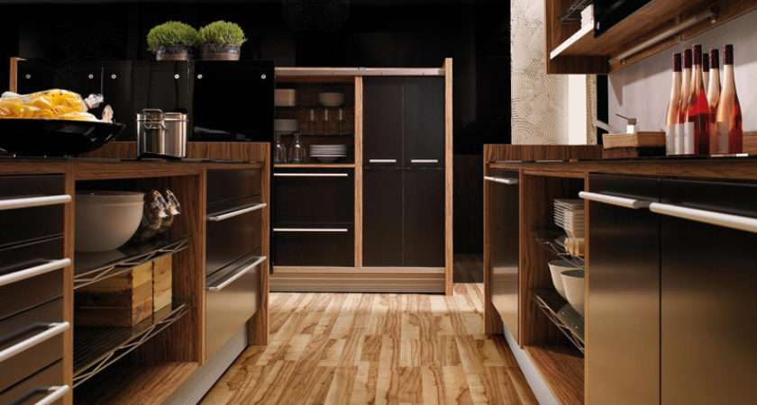 Glossy Lacquer Natural Wood Kitchen Design Vitrea Braal