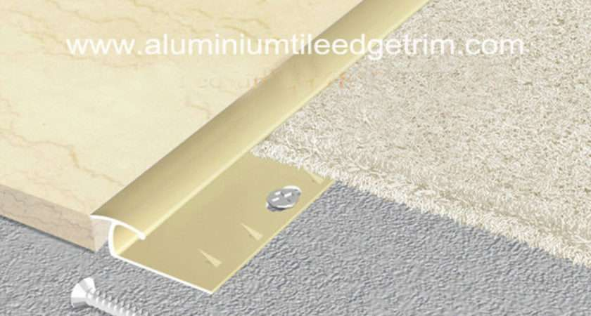 Gold Aluminium Carpet Trim Tile Door Bar