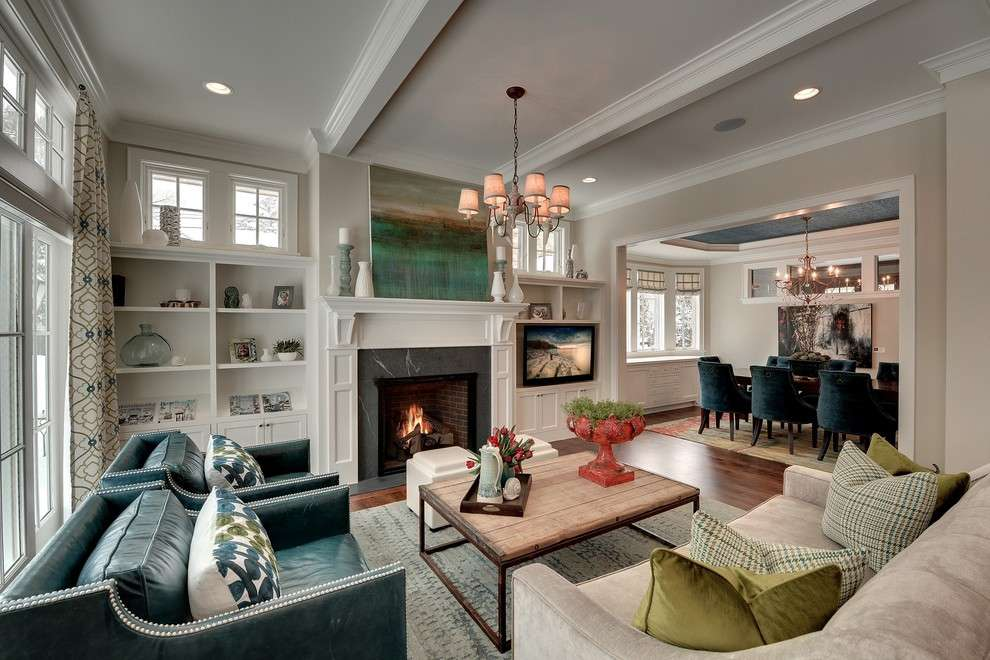 Goodall Homes Traditional Living Room Colour Schemes Minneapolis Area