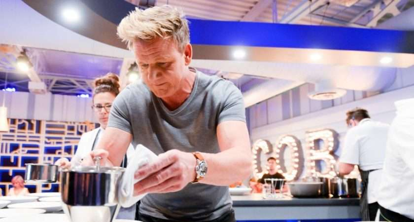 Gordon Ramsay Tips Enjoying Meal Concerned