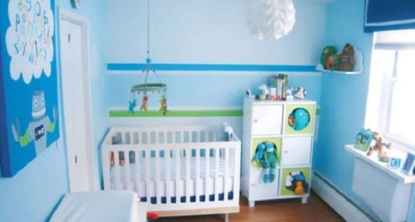 Gorgeous Blue Color Baby Boy Room Decorating Ideas White Wood