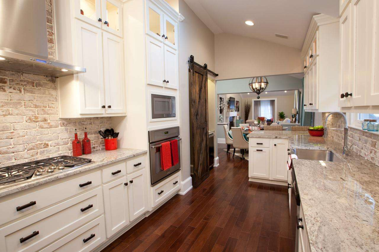 Gorgeous Galley Kitchen After Has Completely New