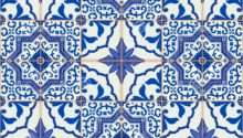 Gorgeous Seamless Patchwork Pattern Dark Blue