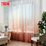 Gradient Color Window Tulle Curtains Living Room Girls